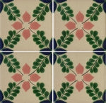 four tile array Mexican ceramic tile