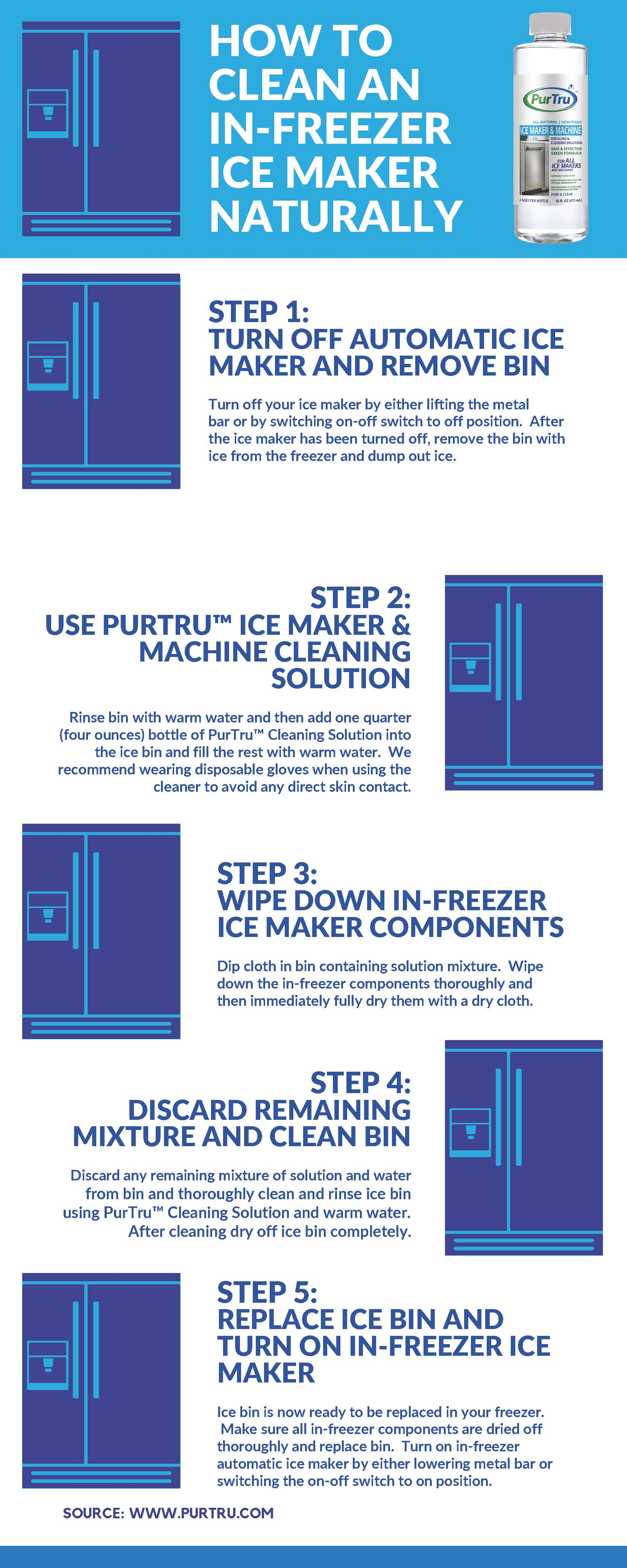 How To Clean An In-Freezer Ice maker Naturally