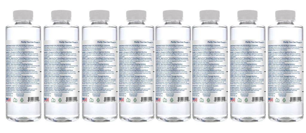 Coffee & Espresso Machine Descaling and Cleaning Solution (16 FL OZ)   8 Pack