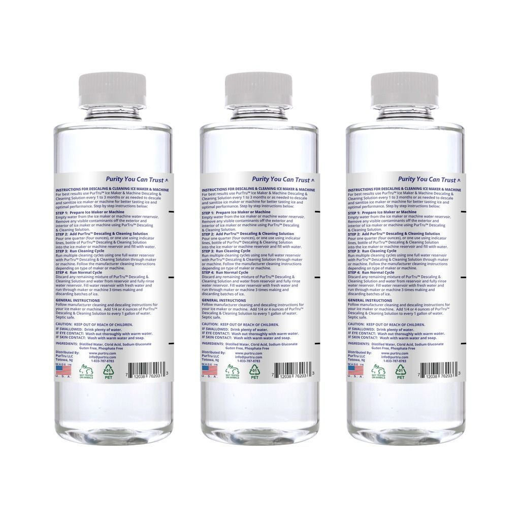 Ice Maker & Machine Descaling and Cleaning Solution (3 Pack)