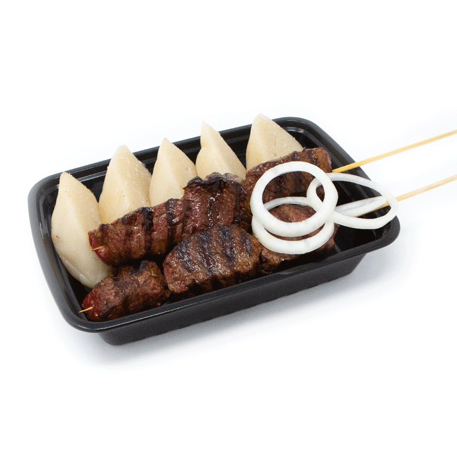 Cassava Stick and Beef Skewers | $16.99