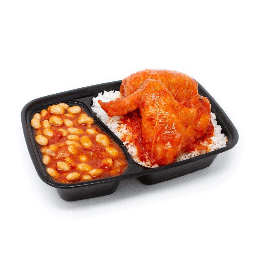 African Style Beans Chicken Tomato and Rice | $16.99