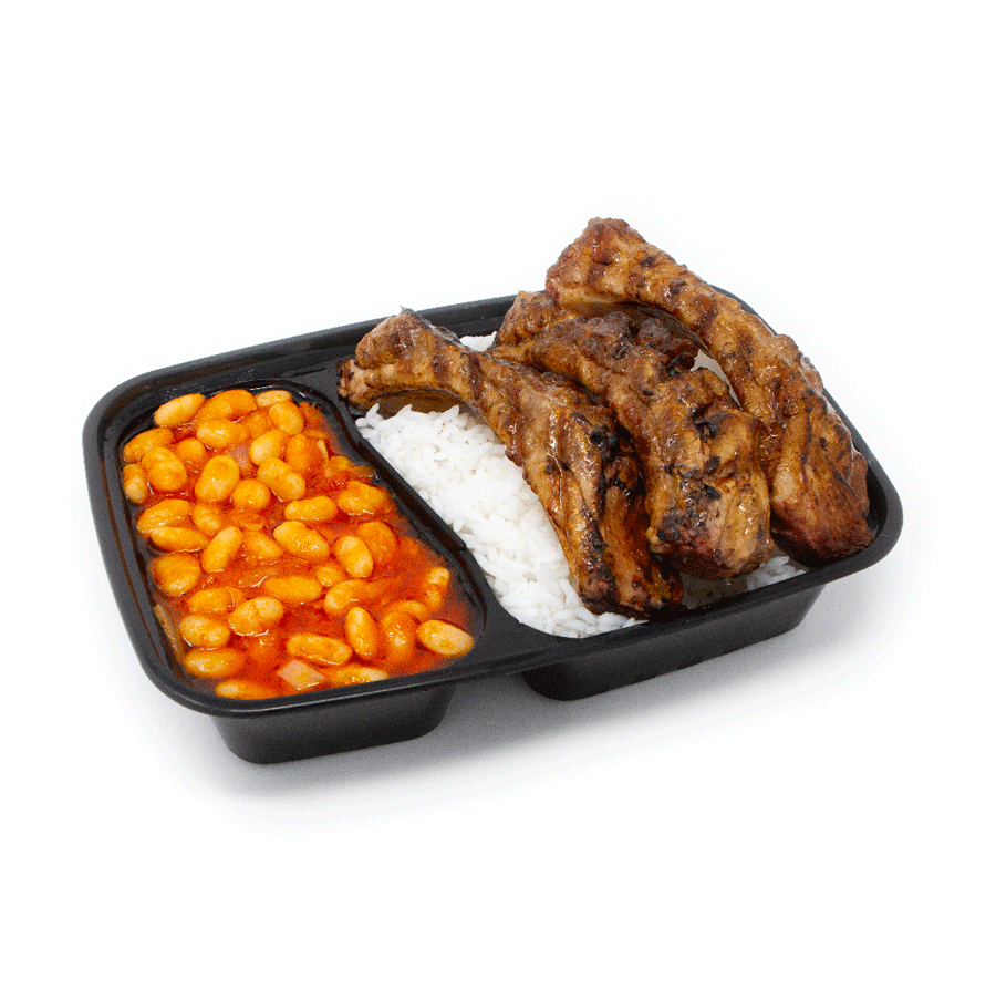 African Style Beans Ribs and Rice | $16.99