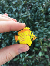 Load image into Gallery viewer, Yellow Hawaiian Tang Tropical Fish Ceramic Hand Painted Animal Beads