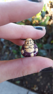 Lucky Ceramic Hand Painted Buddha Bead
