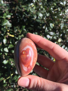 Polychrome Jasper Polished Oval Thick Shape Rock Crystal