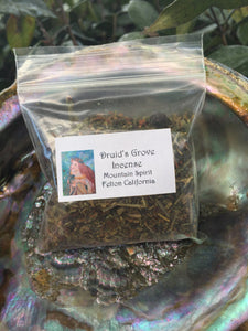 Druid's Grove Herbal Incense Blend for Coal Burning or Cone Making