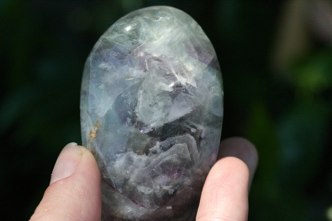 Fluorite  Green Purple Free Form Standing Polished Crystal Stone Minera Specimen