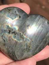 Load image into Gallery viewer, Labradorite Polished Heart Shaped Stone