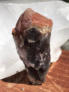 Super 7 Crystal Raw Terminated Point Rare Stone Containing Amethyst, Cacoxenite, Geothite, Quartz, Lepidocrocite, Rutile, and Smokey Quartz.