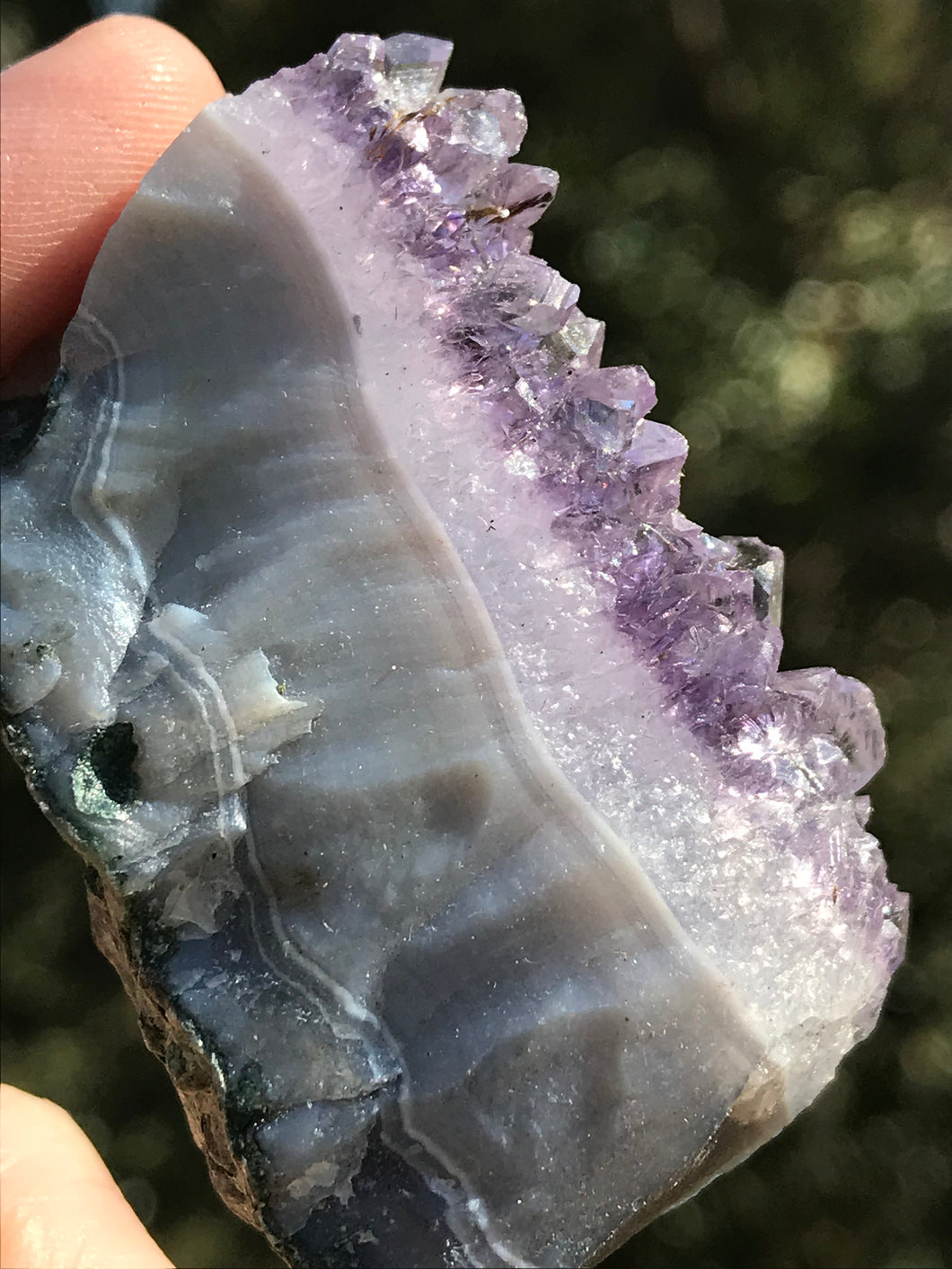Amethyst Cluster Slab Natural Raw Purple Quartz