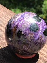 Load image into Gallery viewer, Charoite Sphere Purple Polished Stone Crystal