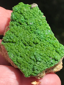 Pyromorphite from Germany In Matrix Raw Green Rock Formation