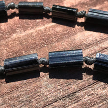 Load image into Gallery viewer, Black Tourmaline Raw Schorl Crystal Beads