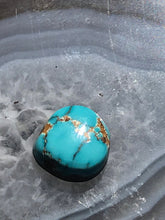 Load image into Gallery viewer, Natural Kingman Arizona Turquoise Cabochon Tumbled Stone