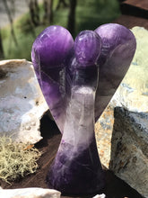 Load image into Gallery viewer, Amethyst Carved Purple Stone Angel Fairy