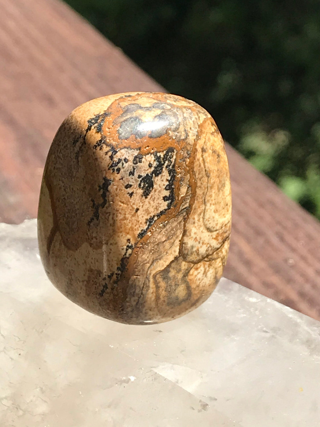 Picture Jasper Polished Tumbled Freestanding Stone