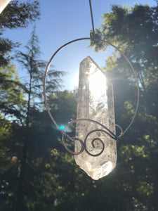 Hanging Quartz Crystal Raw