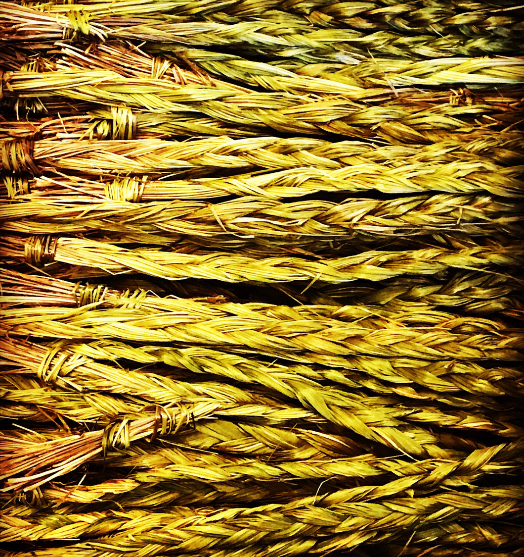 California Sweet Grass Dried Braided  Wands Ceremonial Herb