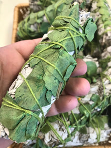 Eucalyptus Sage Dried White Sage Leaf Wand Ceremonial Herb