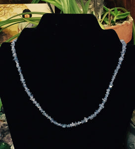 Tanzanite Blue Chip Bead Necklace