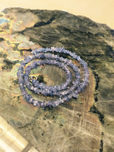 Load image into Gallery viewer, Tanzanite Blue Chip Bead Necklace