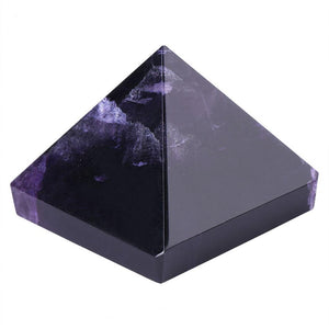 Natural Purple Amethyst Gemstone Crystal Pyramid
