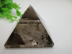 Smokey Quartz Gemstone Crystal Pyramid