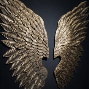 Metal Wing Wall Sculpture Decoration