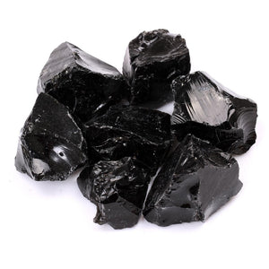 Rough Natural Black Obsidian Tumbled