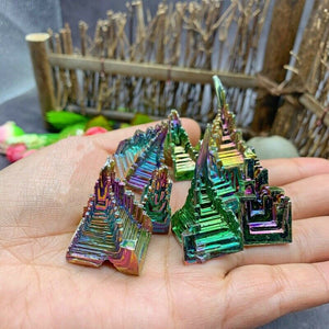 Natural Bismuth Gemstone Crystal Specimen