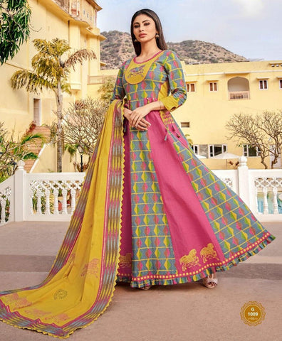 Aangan of India embordered relax fit designer maxi dress with dupatta for fall, bridesmaids, wedding, parties and Diwali; for Indian or American theme parties