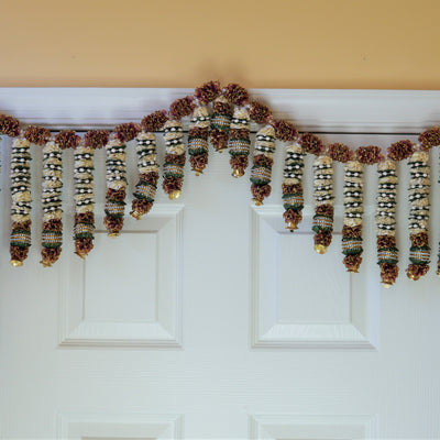 fall floral door decoration