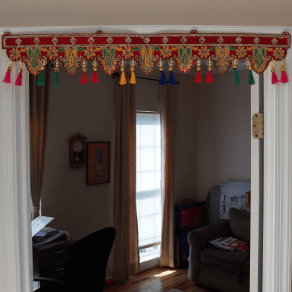 Embroidered door decor