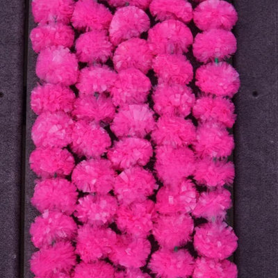 Pink flower marigold garland for party decoration