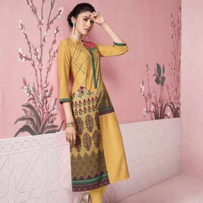 yellow Indian party dress
