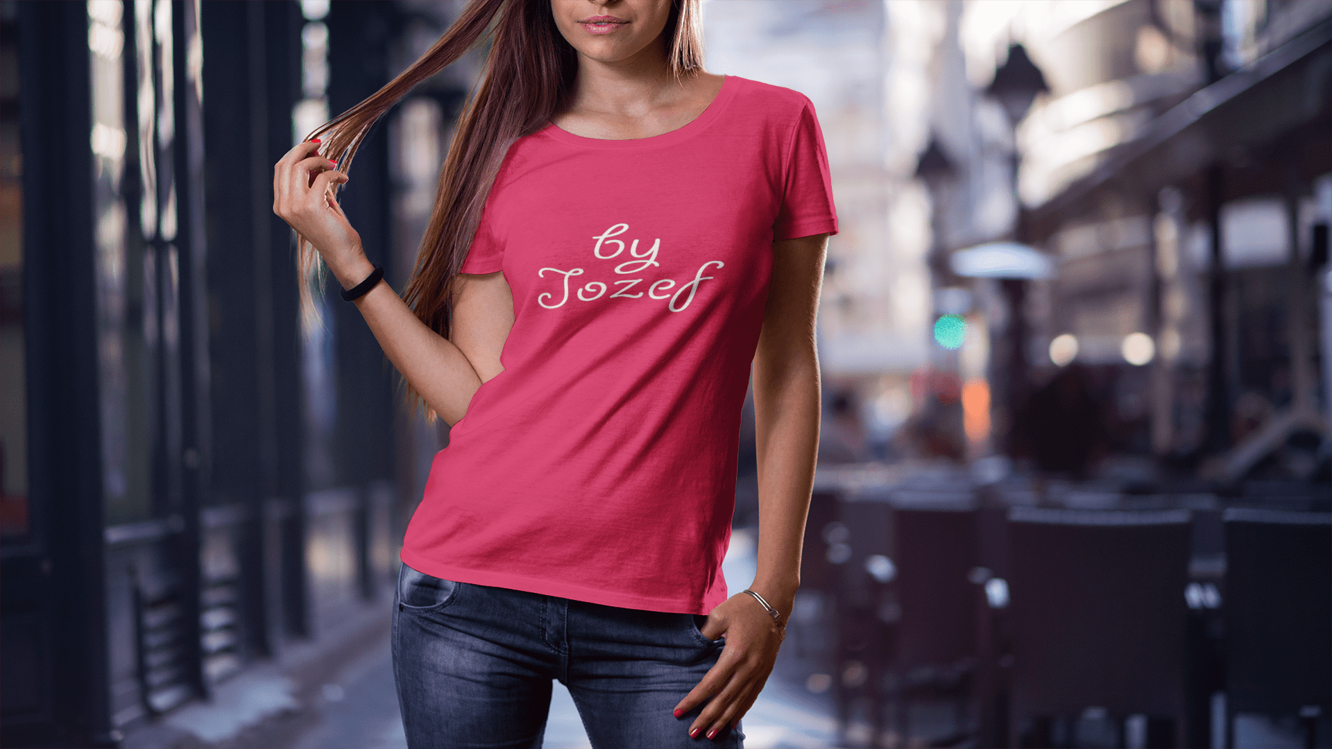 Red (Feminine Style)-T-shirts-By Jozef
