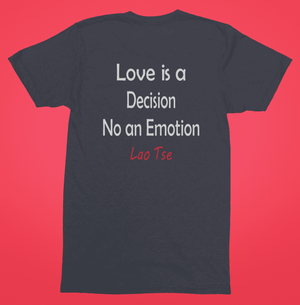 Love is a decision blue