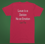 Love is a decision red