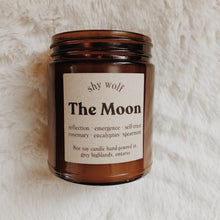 Load image into Gallery viewer, Shy Wolf The Moon candle with rosemary, eucalyptus and spearmint.