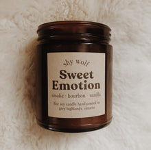 Load image into Gallery viewer, Shy Wolf Sweet Emotion candle with smoke, bourbon, and vanilla.