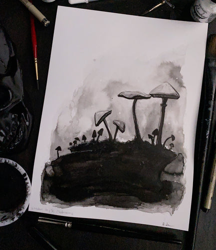 "Inktober: ""Mushrooms"" - Holly Denham"