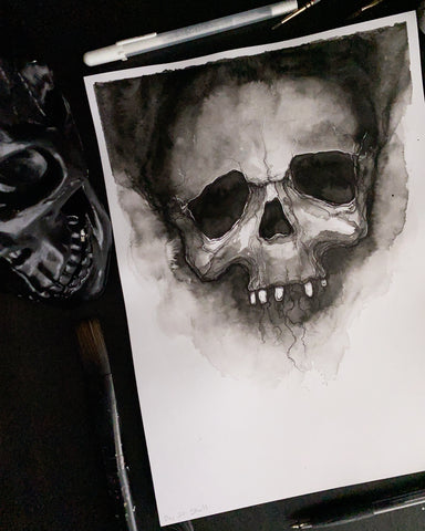 "Inktober: ""Skull"" - Holly Denham"