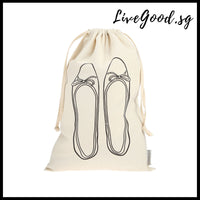 Ballerina Drawstring Shoe Bag (Eco-friendly)