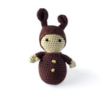 I AM BCO conscious Lifestyle Bunny Hat Doll Crotchet Rattle Cheengoo Ethical and eco friendly Bamboo