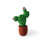 I AM BCO conscious Lifestyle Crotchet Cactus  Rattle Cheengoo Ethical and eco friendly Bamboo