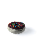 I AM BCO conscious Lifestyle Crotchet Chocolate Donut Rattle Cheengoo Ethical and eco friendly Bamboo