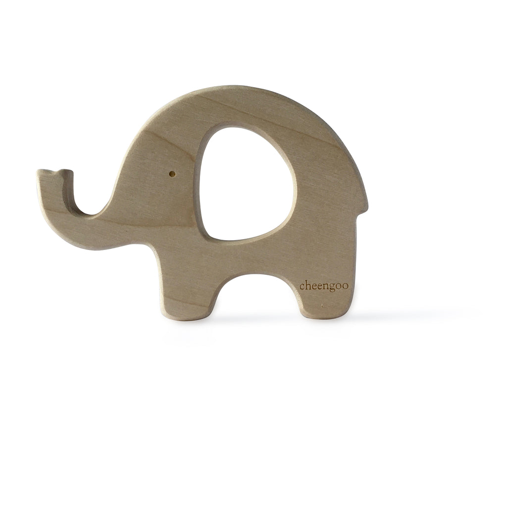 I AM BCO conscious Lifestyle Elephant Timber Teether Cheengoo Ethical and eco friendly Maple