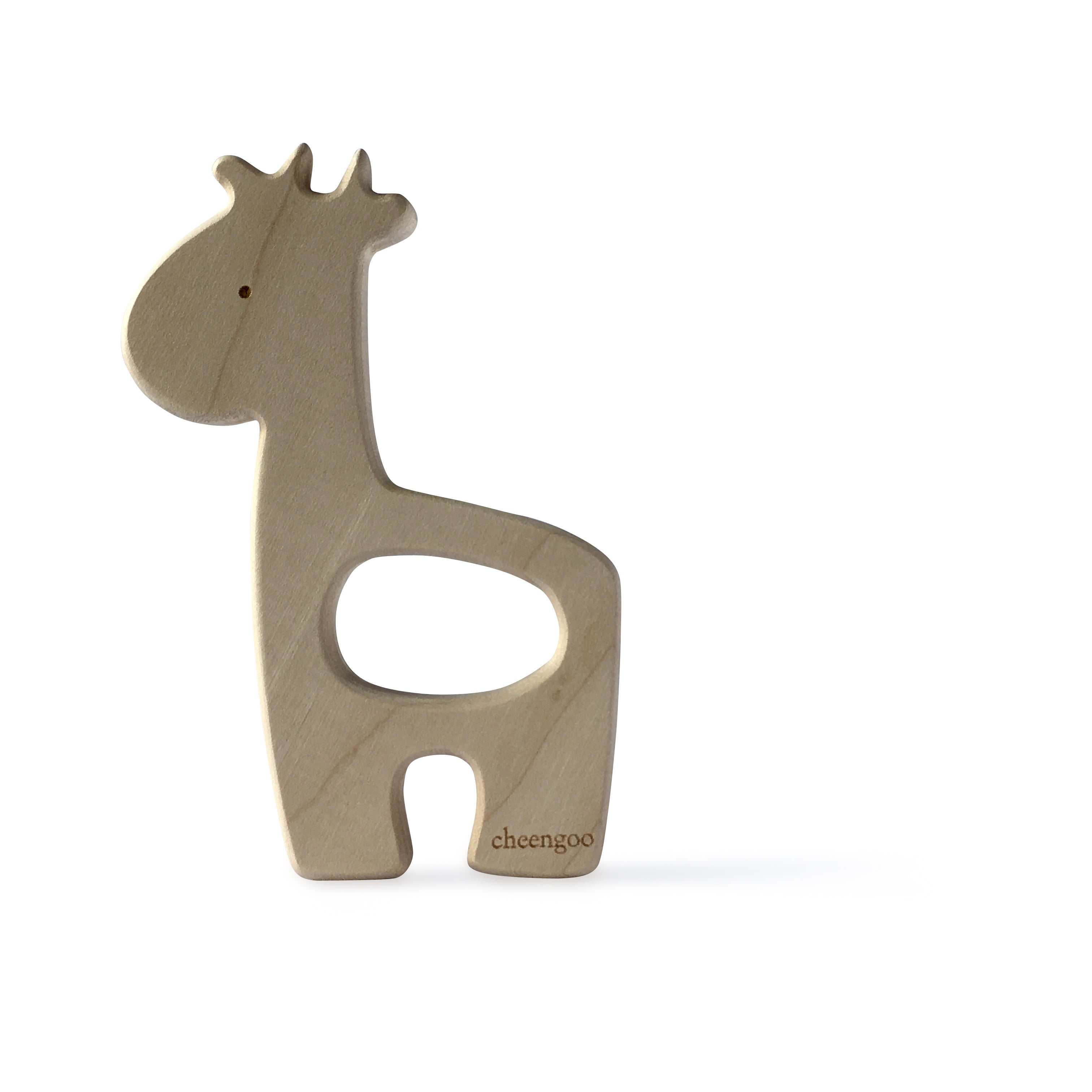 I AM BCO conscious Lifestyle Giraffe Timber Teether Cheengoo Ethical and eco friendly Natural Maple