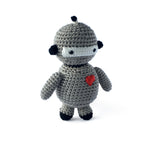 I AM BCO conscious Lifestyle Robot Crotchet Rattle Cheengoo Ethical and eco friendly Bamboo